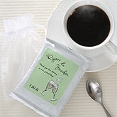 Personalized Wedding Favors - Toast To Love Coffee Packet - 6870