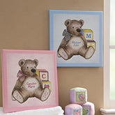 Teddy Bear Personalized Baby Canvas Art Nursery Decor - 6881