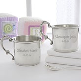 Personalized Heirloom Pewter Baby Cup - 6884
