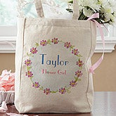 Personalized Flower Girl Tote Bag - 6885
