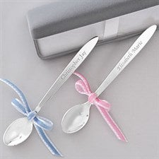 Personalized Silver Baby Spoon Keepsake Gift - 6886