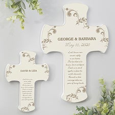 Marriage Blessings Personalized Wedding Wall Cross - 6887