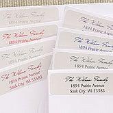 Family Return Address Labels - Signature Script - 6898