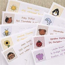 Kids Personalized Return Address Labels - Stampin' Fun - 6900