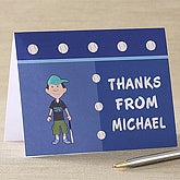 Boy Cartoon Character Personalized Address Stamp