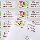 Crazy For Polka Dots Return Address Labels