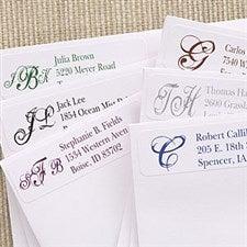 Script Monogram Personalized Return Address Labels - 6914