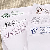Script Monogram Personalized Return Address Labels - 6914