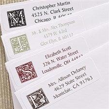 Floral Monogram Multipurpose Address Labels - 6915