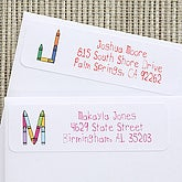 Crayon Time Personalized Kids Address Labels