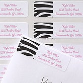 Zebra Print Custom Address Labels - 6920