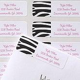 Zebra Print Custom Address Labels - 6920