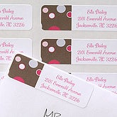 Polka Dot Print© Return Address Labels