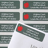 Chalkboard Teacher Custom Return Address Labels - 6927