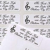 Music Notes© Return Address Labels