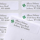 Emerald Border© Return Address Labels