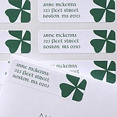 Four Leaf Clover Custom Irish Address Labels - 6937