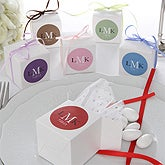 Personalized Wedding Favor Boxes with Monogram - 6940