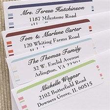 Custom Return Address Labels - Simple Stripes - 6954