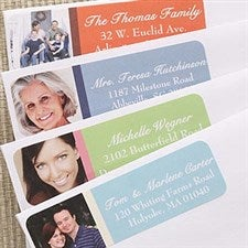 Personalized Photo Address Labels - Color Block - 6955