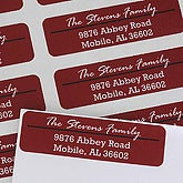 Personalized Return Address Labels - Crimson Stripe