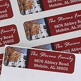 Crimson Border© Photo Return Address Labels