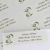 Floral VIne Personalized Address Labels - 6963