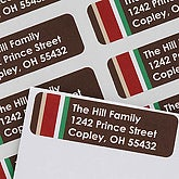 Personalized Address Labels - Contemporary Stripes - 6984