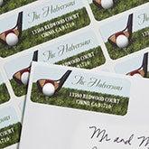Personalized Golf Return Address Labels - 6989