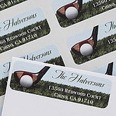 Personalized Golf Return Address Labels - 6989