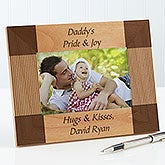 Personalized Engraved Wood Picture Frames for Fathers - Create Your Own - 6999