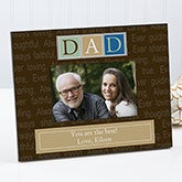 Personalized Picture Frames for Mem - Fathers, Grandfathers, Uncles - 7002
