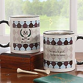 Golf Crest Monogram Personalized Coffee Mug - 7006