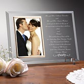 Personalized Wedding Invitation Glass Picture Frame - 7027