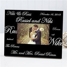 Personalized Wedding Picture Frames Mr And Mrs Collection 7035