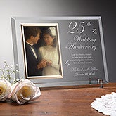 Personalized Glass Anniversary Picture Frames - Reflections Collection - 7036