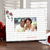 Personalized Anniversary Picture Frames - Our First Year - 7037