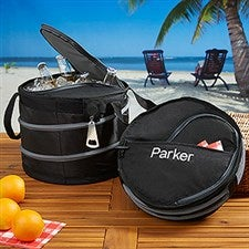 Personalized Collapsible Beverage Cooler - Drink Cooler - 7077