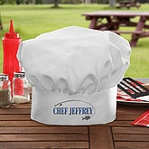 Personalized Chef Hat for Fishermen - Hook 'em & Cook 'em - 7090