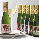 Personalized Champagne Bottle Wedding Favors - Filigree - 7092D