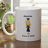 Graduation Cartoon Character Personalized Coffee Mug - 7099