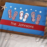 Patriotic Fourth of July Personalized Door Mats - 7102