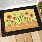 Personalized Door Mats - Summer Sunflowers - 7103