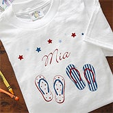 Patriotic Personalized Stars & Stripes Flip Flops Kids & Baby Clothing - 7113