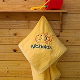 Kids Personalized Beach Towels - Go Fish - 7119