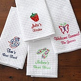 Embroidered Kitchen Towel Set - Summer Time Designs - 7120