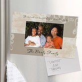 Personalized Refrigerator Magnet Picture Frame - Photo Sentiments - 7122
