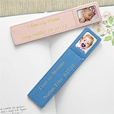 Baby Photo Personalized Leather Bookmarks - 7125