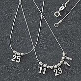Sterling Silver Personalized Necklaces - Your Special Number - 7131D