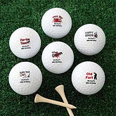Personalized Birthday Golf Balls - Over the Hill - 7137